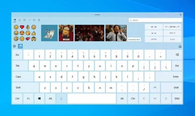 Windows 10 new touch keyboard