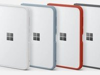 Surface Duo bumpers in graphite, ember, and ice colors now available