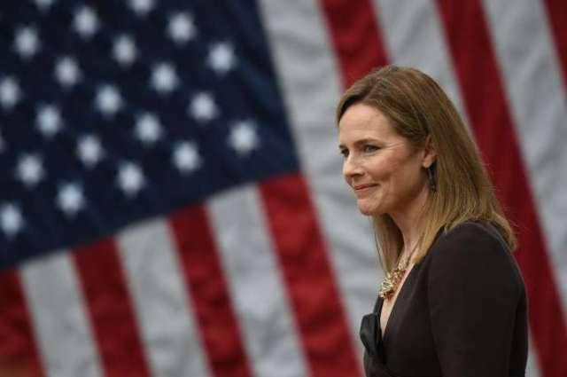La juge Amy Coney Barrett lors de sa nomination à la Cour Suprême le 26 septembre à la Maison Blanche.