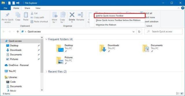 Add Quick Access Toolbar Custom Button