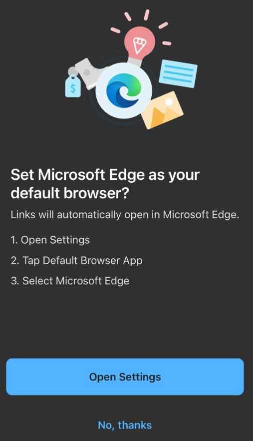 iOS 14, Microsoft Edge