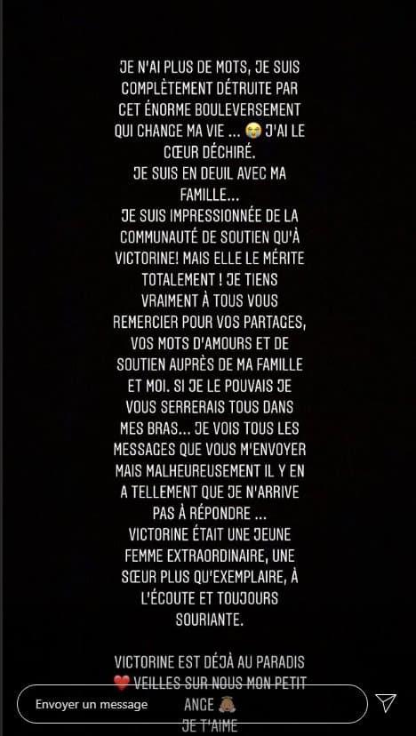 Le message posté par Romane Darbois