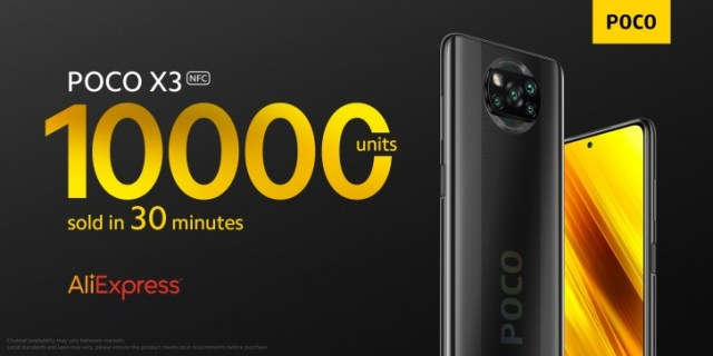 Poco sells 10,000 units of the X3 NFC in 30 minutes