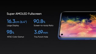 Realme 7 Pro comes with a Super AMOLED screen with a fingerprint reader underneath