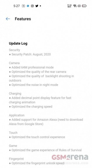 Realme 7 software update