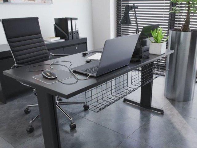 Scandinavian hub Desk Wire Tray Lifestyle