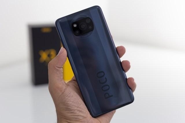 Le dos du Xiaomi Poco X3 NFC