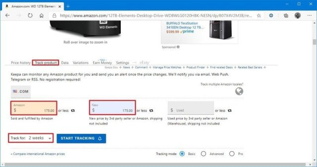 Keepa create Amazon price history tracker