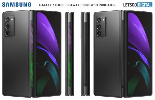 Samsung considers putting an RGB strip on the Galaxy Z Fold's hideaway hinge