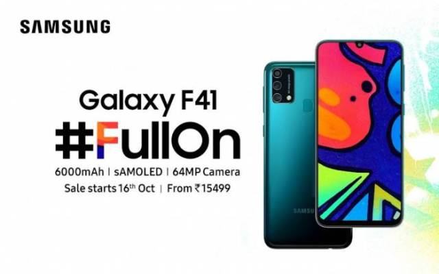 Samsung Galaxy F41 FullOn
