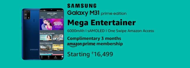 Samsung Galaxy M31 Prime Edition India Price