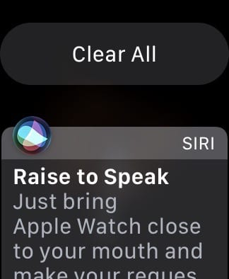 Apple Watch Notification Center