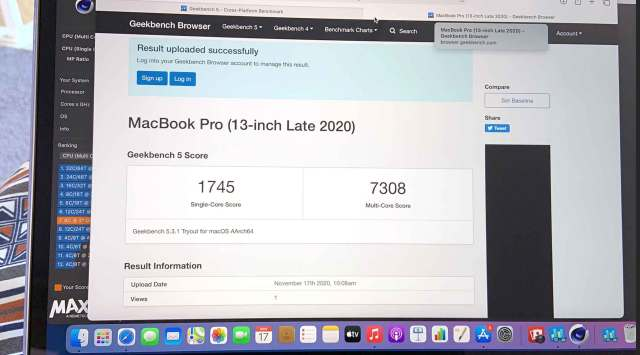 Apple M1 - GeekBench 5