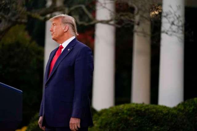 Le président Donald Trump assiste à un événement sur l'opération Warp Speed, dans la roseraie de la Maison Blanche,à Washington, le 13 novembre.