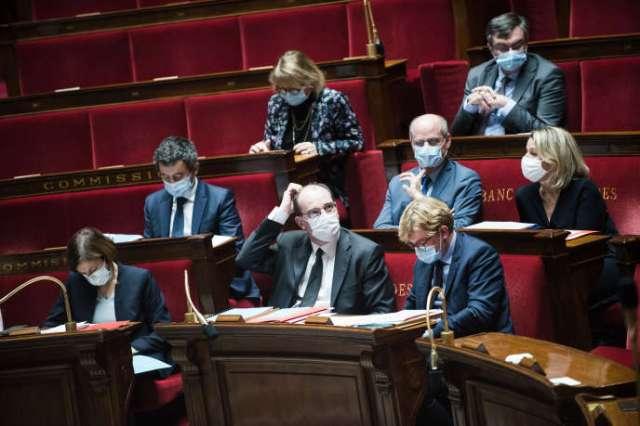 Le premier ministre Jean Castex lors de la séance des questions au gouvernement, àl'Assemblée nationale, le 17 novembre.