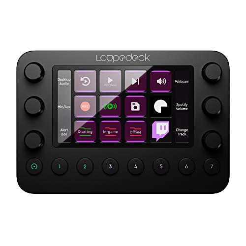 Loupedeck Live - La console personnalisable pour la diffusion de contenu en direct, le montage photo et vidéo avec boutons, cadrans et écran tactile LED personnalisables