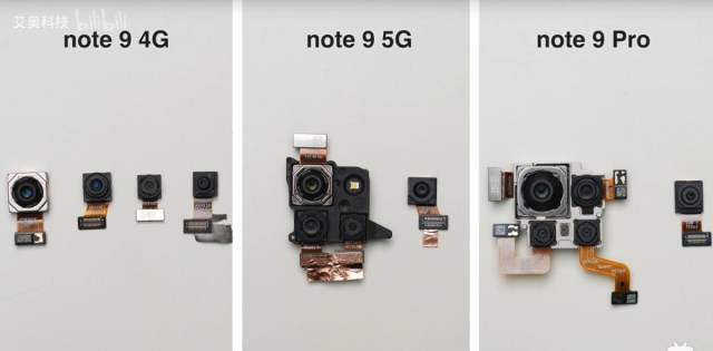 Redmi Note 9 series teardown reveals differences between the 4G and 5G models
