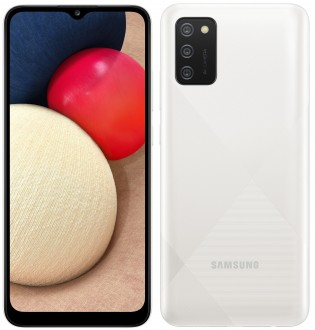 Galaxy A02s in White color