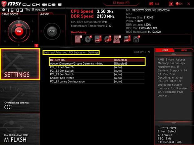 Carte mère MSI AMD 500 series et le Smart Access Memory