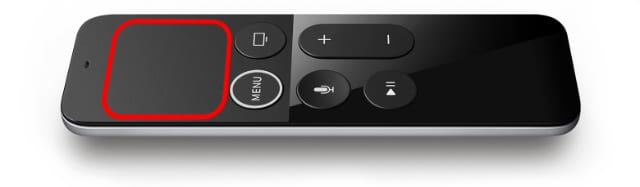 Touch Surface on Siri Remote