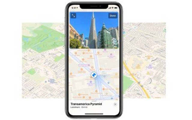 apple maps and look around