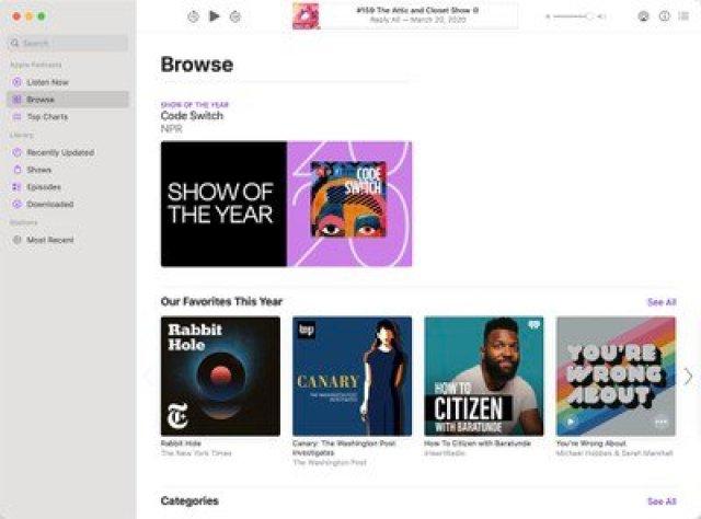 apple top picks podcasts books 2020