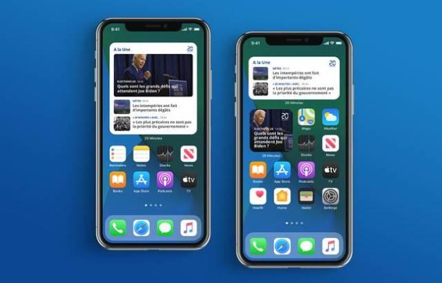 Les nouveaux widgets mobiles de notre application iPhone et iPad.