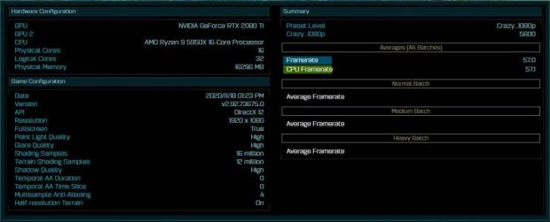 yzen 9 5950X- benchmark de « the Ashes of The Singularity