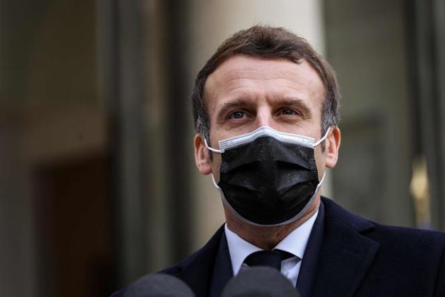 Emmanuel Macron, le 16 décembre, à l'Elysée (Paris).