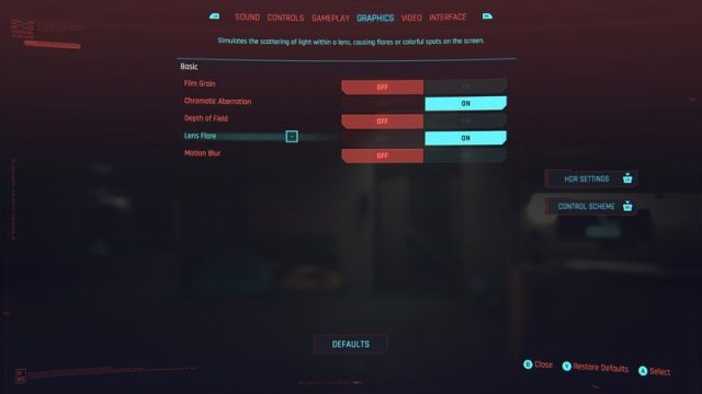 Cyberpunk 2077 Visual Settings Consoles
