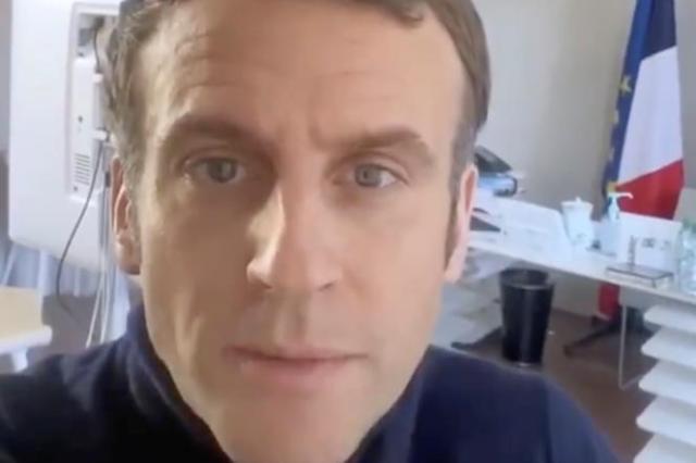 Capture d'écran du post d'Emmanuel Macron sur Twitter, le 18 décembre.