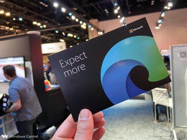 Microsoft Edge logo on card