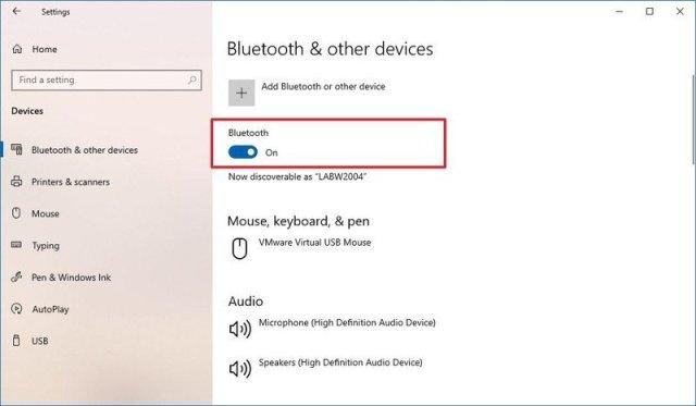 Windows 10 confirm Bluetooth adapter