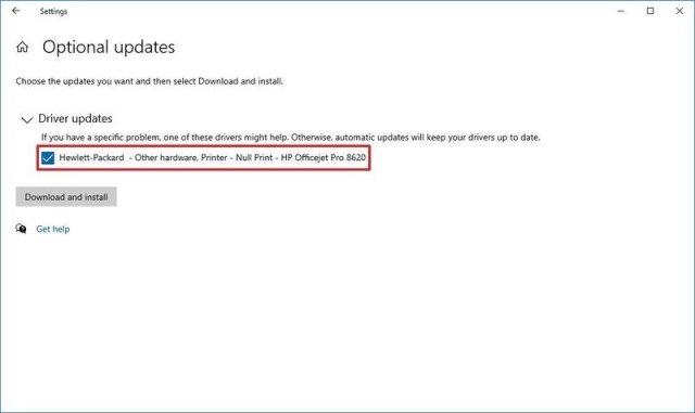 Windows Update install drivers