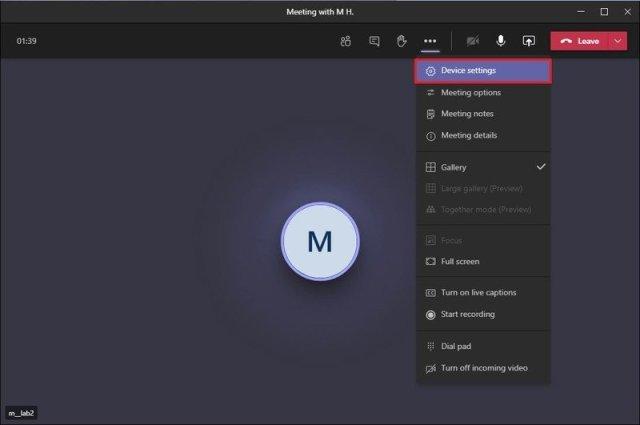 Microsoft Teams device settings