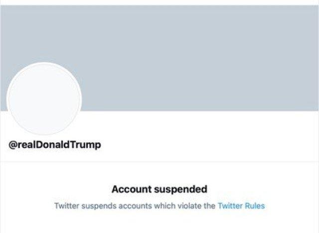 twitter donald trump suspension