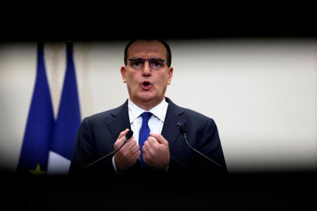 Le premier ministre Jean Castex durant la conférence de presse du 14 janvier à Paris.