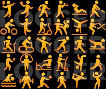Icons for exercise modes