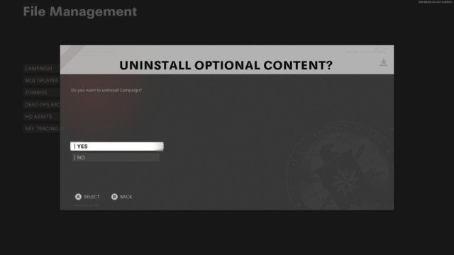 Delete unused content in Call of Duty Black Ops Cold War