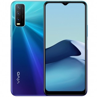 vivo Y20A in Nebula Blue color