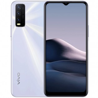 vivo Y20A in Dawn White color