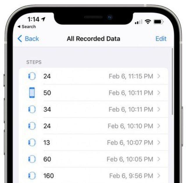 apple health app steps