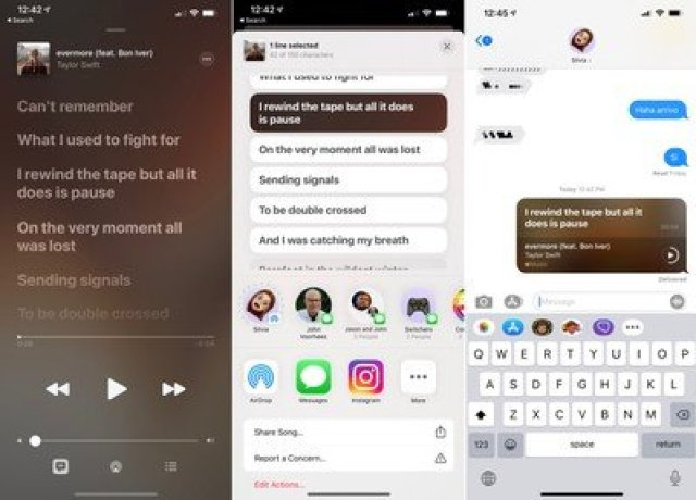 share apple music lyrics ios 2nd beta 14 5%403x
