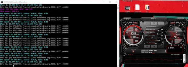 GeForce RTX 3060 - Performance en Mining