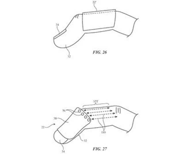 finger mounted device patent on finger