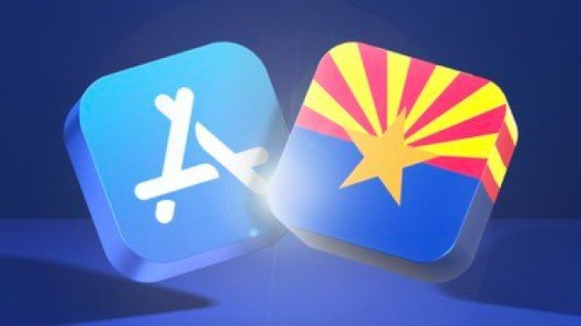 app store blue banner arizona