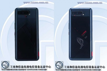 Asus ROG Phone 5: B-model (left) and A-model (right)