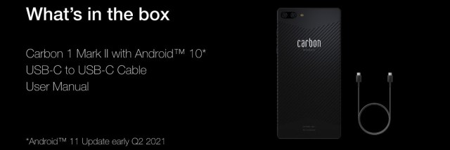 The Carbon 1 MK II is first phone in the world with acarbon fiber monocoque