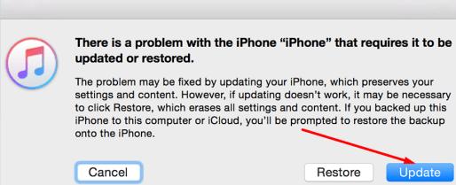 update or restore iphone
