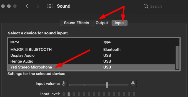 macbook blue yeti mic sound settings